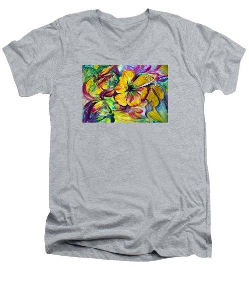 Good Days Men's V-Neck T-Shirt by Harsh Malik