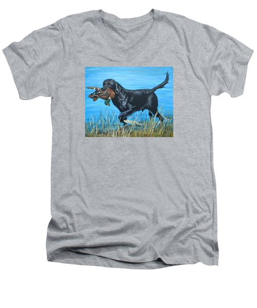 Good Dog Men's V-Neck T-Shirt
