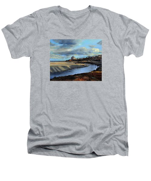 Good Harbor Beach Gloucester Men's V-Neck T-Shirt