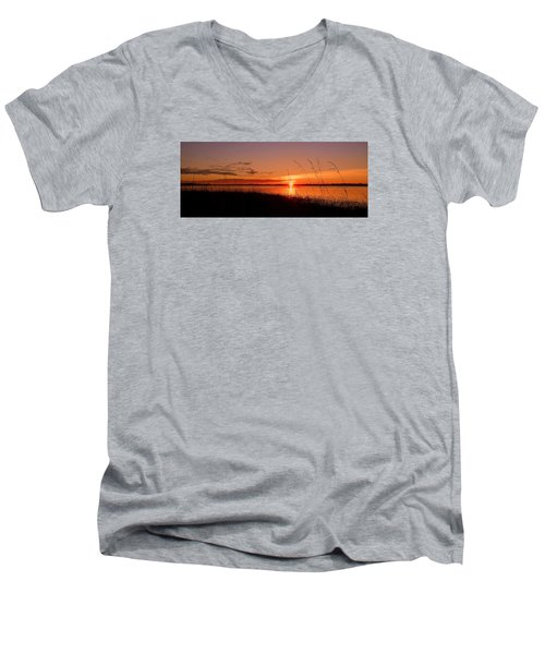 Men's V-Neck T-Shirt featuring the photograph Good Morning ... by Juergen Weiss