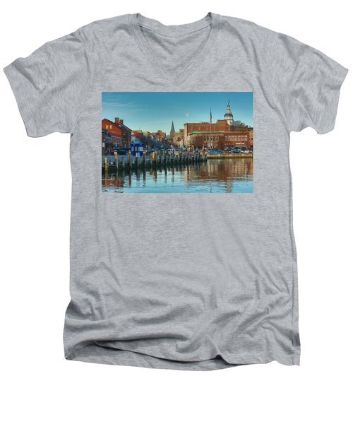 Good Morning Downtown Men's V-Neck T-Shirt