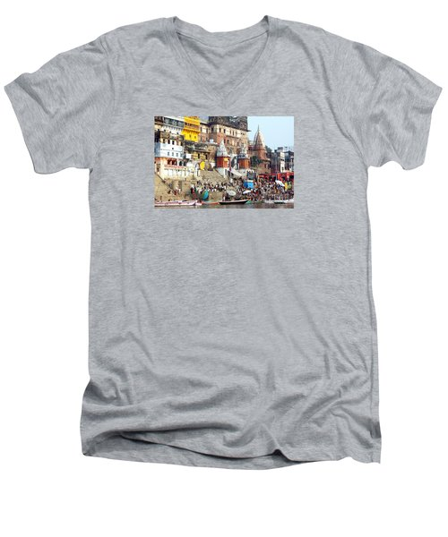 Good Morning Ganga Ji 2 Men's V-Neck T-Shirt