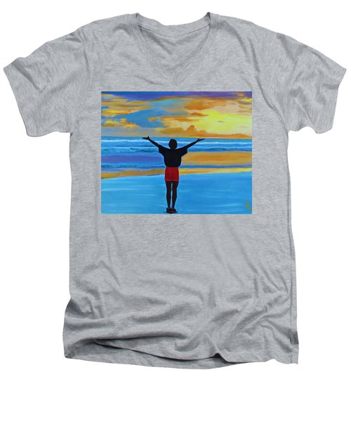 Good Morning Morning Men's V-Neck T-Shirt