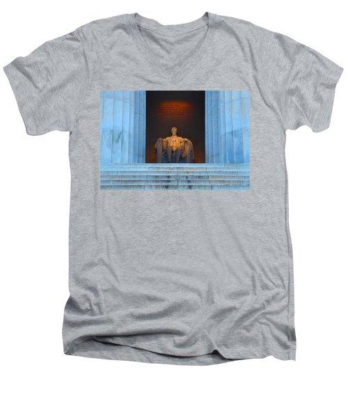 Good Morning Mr. Lincoln Men's V-Neck T-Shirt