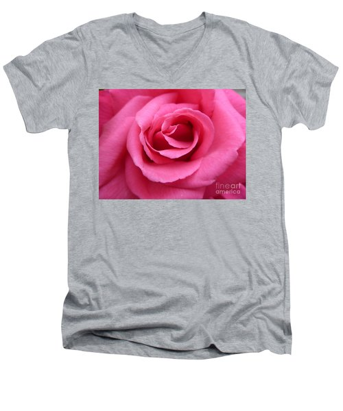 Men's V-Neck T-Shirt featuring the photograph Gorgeous Pink Rose by Vicki Spindler