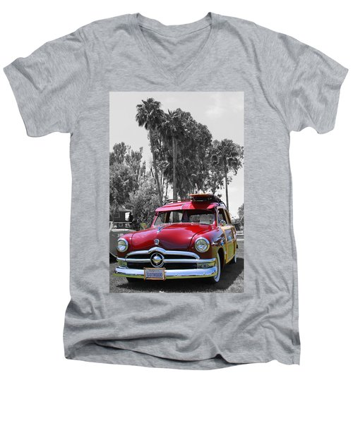 Men's V-Neck T-Shirt featuring the photograph Got Wood? by Shoal Hollingsworth