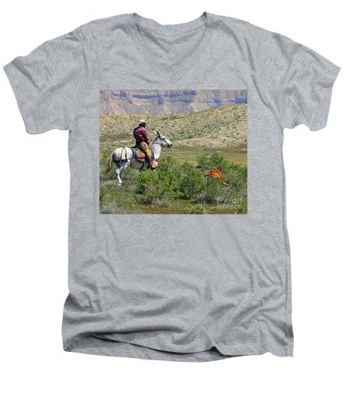 Gotcha' Men's V-Neck T-Shirt by Bob Hislop