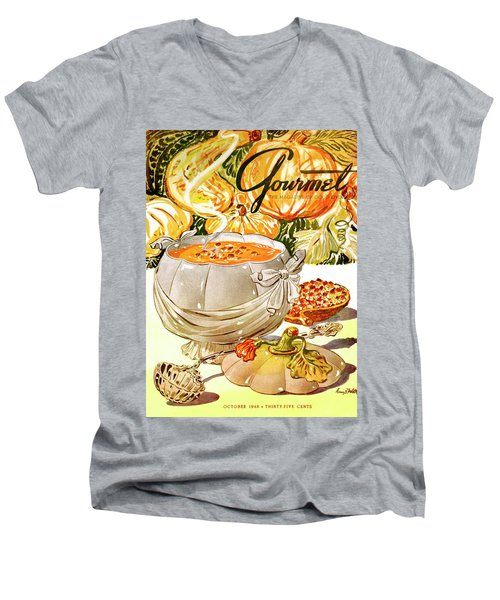 Gourmet Cover Of Pumpkin Soup Men's V-Neck T-Shirt