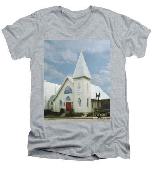 Grace Church Men's V-Neck T-Shirt