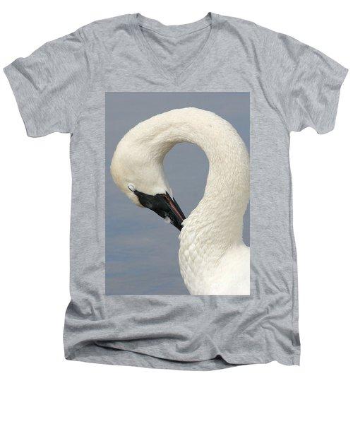 Graceful Men's V-Neck T-Shirt by Liz Masoner