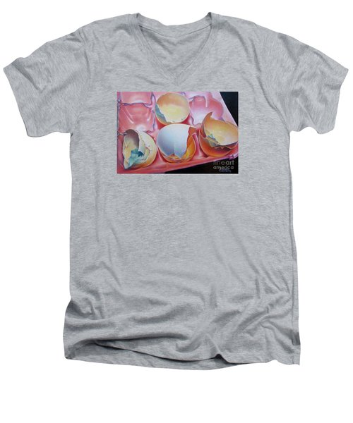 Grade A-extra Large Men's V-Neck T-Shirt