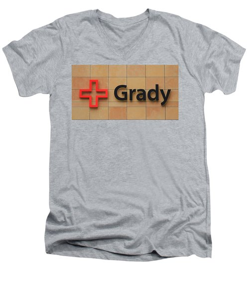 Grady Hospital Atlanta Georgia Art Men's V-Neck T-Shirt