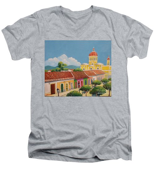 Granada Cathedral Men's V-Neck T-Shirt
