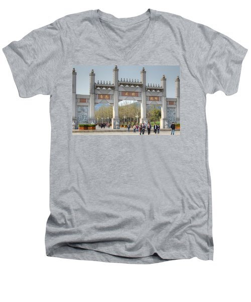 Grand Buddha Gates Men's V-Neck T-Shirt