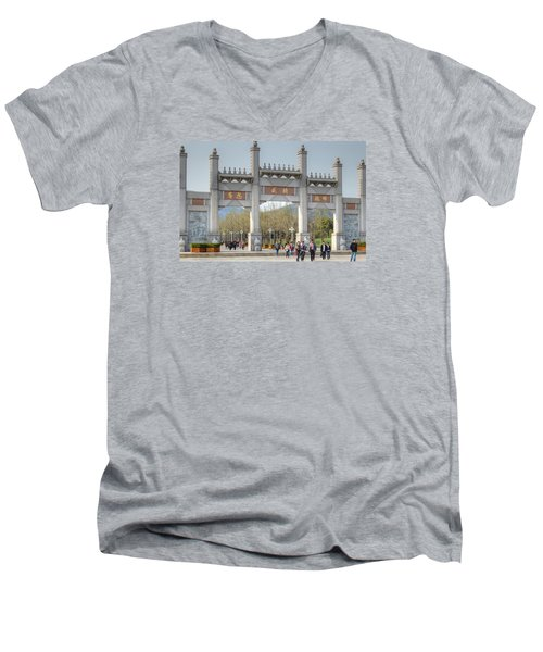 Grand Buddha Gates Men's V-Neck T-Shirt