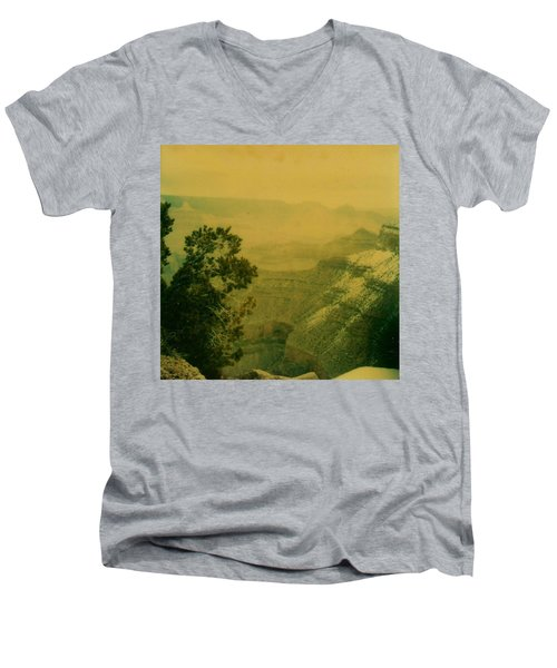 Grand Canyon Men's V-Neck T-Shirt by Amazing Photographs AKA Christian Wilson