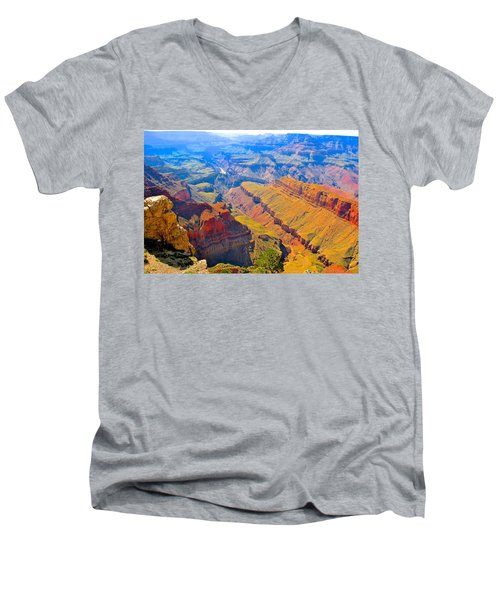 Grand Canyon In Vivid Color Men's V-Neck T-Shirt