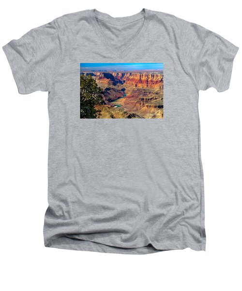Grand Canyon Sunset Men's V-Neck T-Shirt by Robert Bales