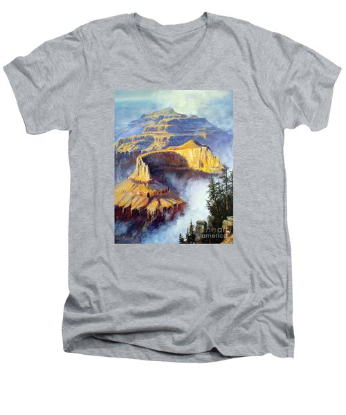Grand Canyon View Men's V-Neck T-Shirt