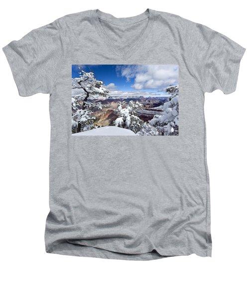 Grand Canyon Winter - 1 Men's V-Neck T-Shirt