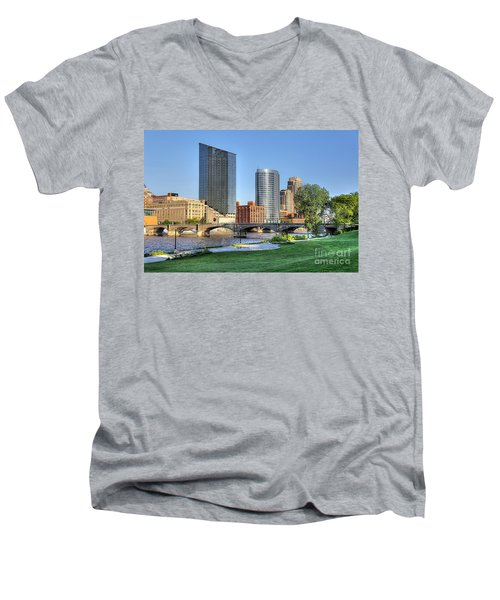 Grand Rapids Mi100 Art Prize Men's V-Neck T-Shirt