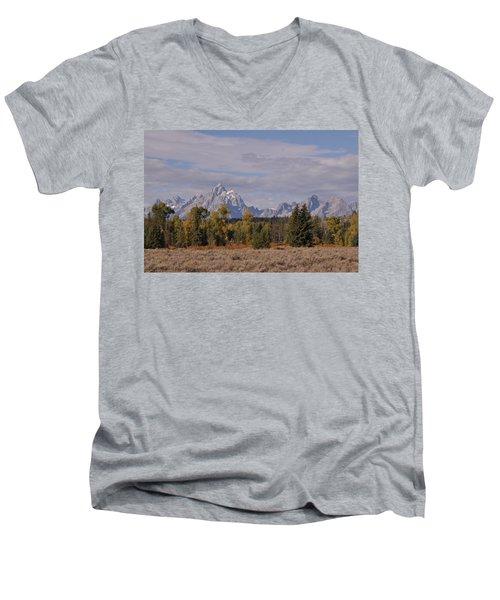 Grand Teton Men's V-Neck T-Shirt