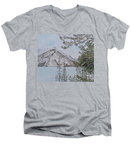 Grand Teton View Men's V-Neck T-Shirt