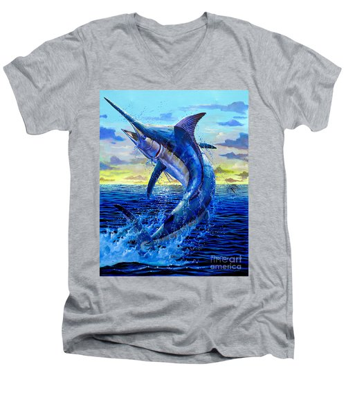 Grander Off007 Men's V-Neck T-Shirt by Carey Chen