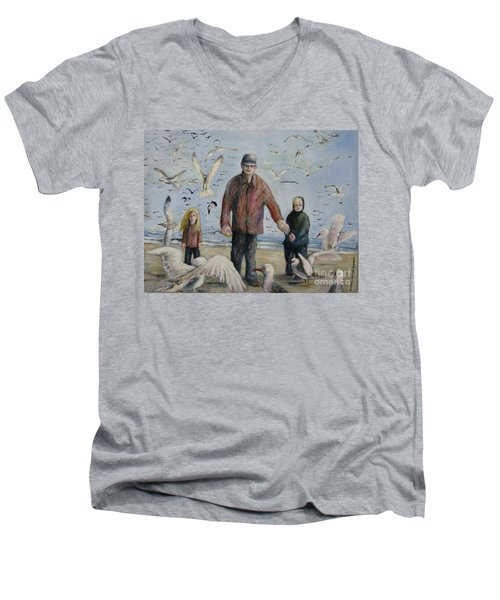 Grandfather Brother And Sister Men's V-Neck T-Shirt