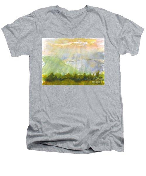 Grandma Cohen Rays Men's V-Neck T-Shirt