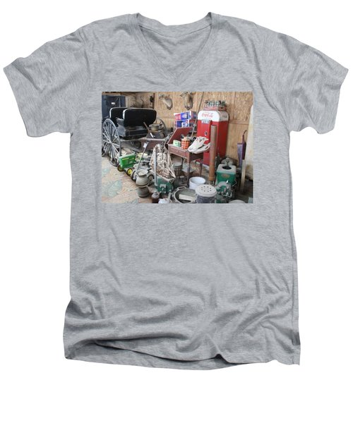 Grandpop's Garage Men's V-Neck T-Shirt