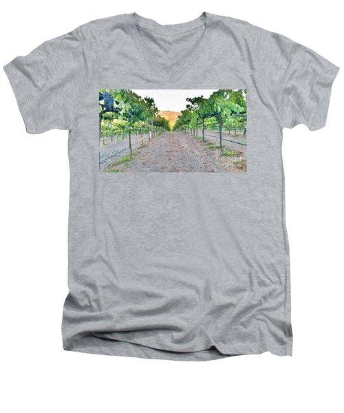Grape Vines Men's V-Neck T-Shirt