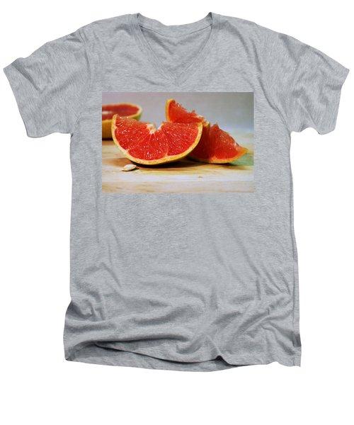Grapefruit Slices Men's V-Neck T-Shirt by Joseph Skompski