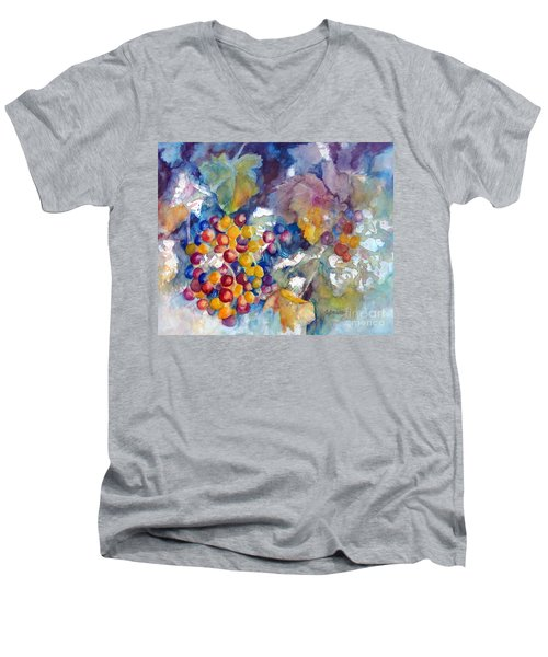 Grapes On The Vine Men's V-Neck T-Shirt