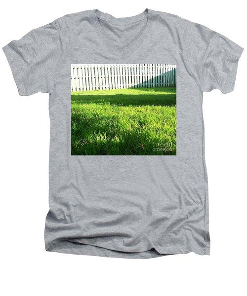 Grass Shadows Men's V-Neck T-Shirt by Susan Williams
