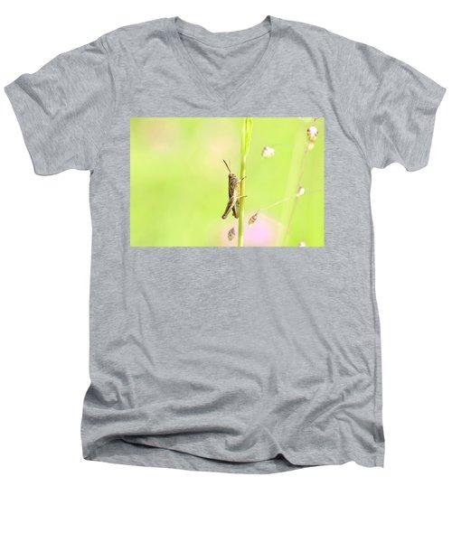 Grasshopper  Men's V-Neck T-Shirt by Tommytechno Sweden