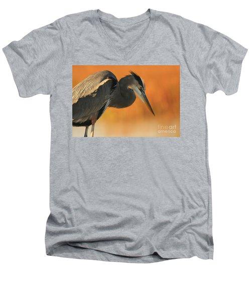 Great Blue Heron Focus Men's V-Neck T-Shirt