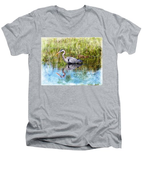 Great Blue Hunter Men's V-Neck T-Shirt