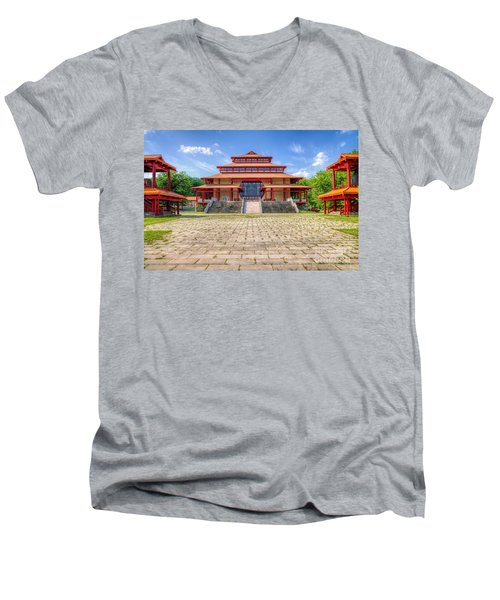 Great Buddha Hall Men's V-Neck T-Shirt