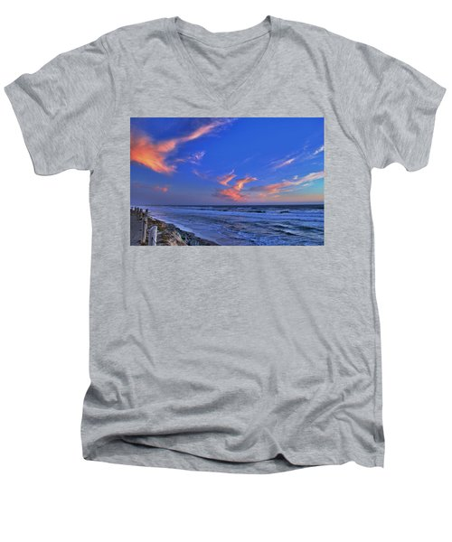 Great Highway Sunset Men's V-Neck T-Shirt