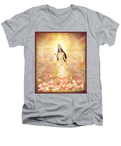 Great Mother Goddess In A Higher Dimension Men's V-Neck T-Shirt by Ananda Vdovic