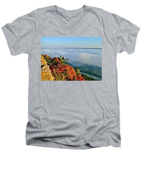 Great River Road Fog Men's V-Neck T-Shirt