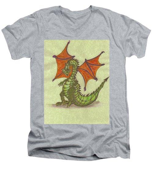 Green Dragon Men's V-Neck T-Shirt