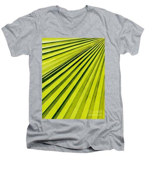Green Palm Frond Men's V-Neck T-Shirt