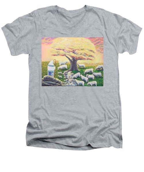 Green Pasture  Men's V-Neck T-Shirt