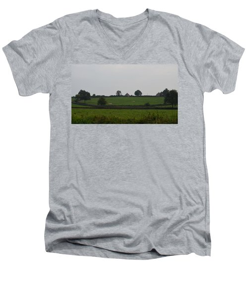 Green Pastures Men's V-Neck T-Shirt