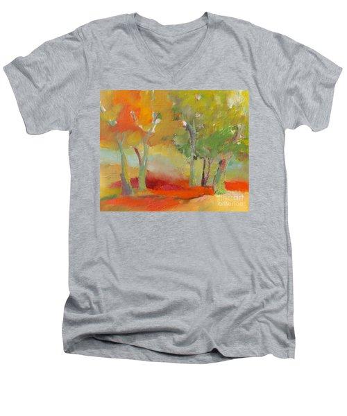 Green Trees Men's V-Neck T-Shirt
