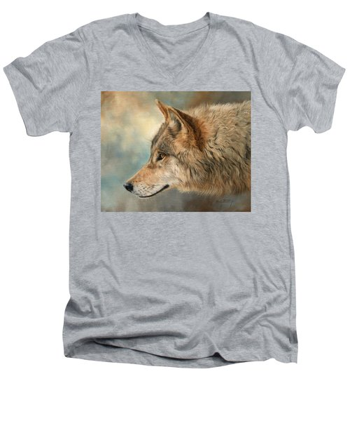 Grey Wolf 3 Men's V-Neck T-Shirt