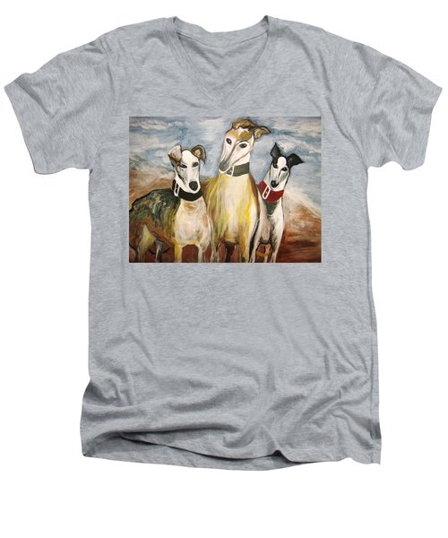 Greyhounds Men's V-Neck T-Shirt
