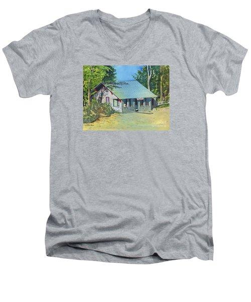 Graynook Men's V-Neck T-Shirt by LeAnne Sowa